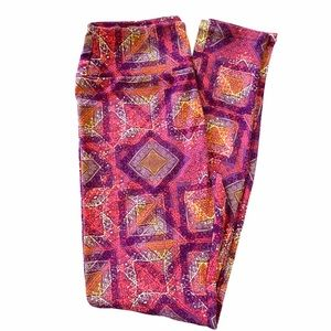 NWOT LuLaRoe OS Leggings, Pink & Purple